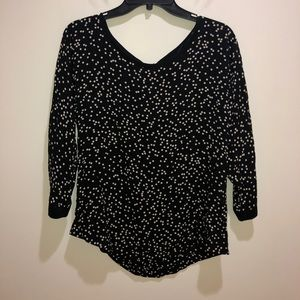 Anthropologie Maeve 8 Polka Dot 3/4 Sleeve Blouse